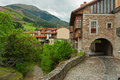 Potes old street in cantabria spain Royalty Free Stock Photo