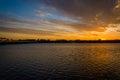 The Potomac River at sunset, in Washington, DC. Royalty Free Stock Photo