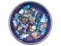 Potpourri in blue bowl on white Stock Images