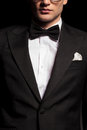 Potrait of a man wearing a tuxedo. Royalty Free Stock Photo