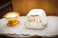 Pots and containers serving for carry of holy communion Stock Photography