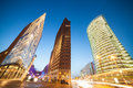 Potsdamer platz in berlin evening Royalty Free Stock Images