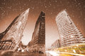 Potsdamer platz in berlin winter Royalty Free Stock Photo