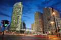 Potsdamer platz at night, Berlin Royalty Free Stock Photo