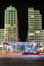Potsdamer platz at night berlin Royalty Free Stock Photos