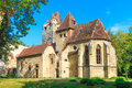 Pottendorf castle and gothic church ruins near eisenstadt austria Stock Images