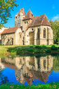 Pottendorf castle and gothic church ruins near eisenstadt austria Royalty Free Stock Image