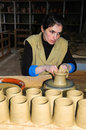 Pottery factory on soa miguel azores islands where you can find traditional earthenweare Royalty Free Stock Photo