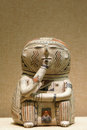 Pottery figurine the close up of the north american ancient indian Royalty Free Stock Photography
