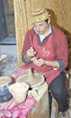 Pottery making, earthen dishes Royalty Free Stock Photos