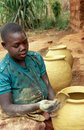 Pottery making in Uganda Royalty Free Stock Photography