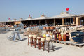 Pottery market in A'Ali, Bahrain Stock Images