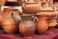 Pottery at market in ukraine Royalty Free Stock Photography