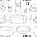 Pottery set pattern