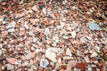 Pottery shards at archeological dig in turkey thousands of alexandrian troas Royalty Free Stock Photo