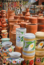 Pottery Shop Royalty Free Stock Photography