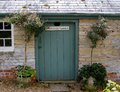 The potting shed a in english walled garden out buildings Stock Photography