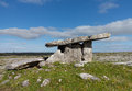 Poulnabrone dolmen burial marker from prehistoric times in south west ireland called Royalty Free Stock Image