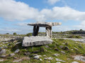 Poulnabrone dolmen burial marker from prehistoric times in south west ireland called Stock Images