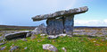 Poulnabrone dolmen on the burren Royalty Free Stock Images