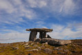 Poulnabrone dolmen a portal tomb in the burren in ireland county clare this dates back to neolithic period probably between bc Royalty Free Stock Photography