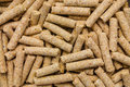 Poultry feed after hammer mill pelleted Royalty Free Stock Photo
