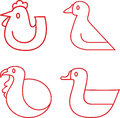 Poultry icons Royalty Free Stock Photo