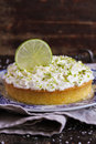 Pound cake with lemon, lime and freshly shredded coconut with cream cheese Royalty Free Stock Photo