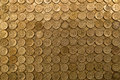 Pound coins full frame of british one Stock Image