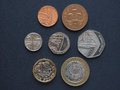 Pound coins, United Kingdom Royalty Free Stock Photo