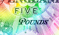 Pound currency background pounds rainbow close up Royalty Free Stock Image