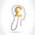Pound currency on my mind illustration design over a white background Stock Photos