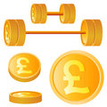 Pound design elements Stock Photography
