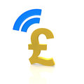 Pound payment with a mobile device Royalty Free Stock Photo