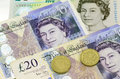 POUND sterling currency of the United Kingdom Royalty Free Stock Photo
