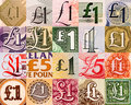 Pound symbols from all over the world Royalty Free Stock Photo