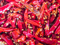 Pounding chilli ingredient for strong flavour food Stock Photography