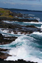 Pounding waves at Phillip Island Royalty Free Stock Photo