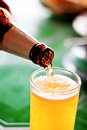 Pour beer Royalty Free Stock Photo
