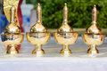 Pour ceremonial water pot set Royalty Free Stock Photography