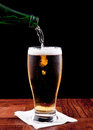 Pouring a beer Royalty Free Stock Images
