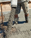 Pouring concrete Royalty Free Stock Photo