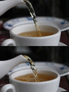 Pouring Green Tea Stock Photos