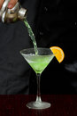 Pouring a martini Royalty Free Stock Photo