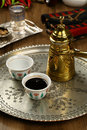 Pouring turkish coffee Royalty Free Stock Photo