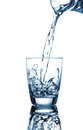 Pouring water on a glass Royalty Free Stock Photo