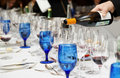 Pouring wine - winetasting event Stock Image