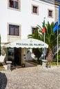 Pousada de palmela the historical luxury hotel inside the palmela castle portugal august Royalty Free Stock Image