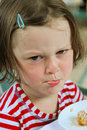 Pouting Little Girl Stock Images