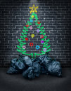 Poverty during the holidays as a concept for social issues of charity and in regards to financial challenges of poor families and Stock Image